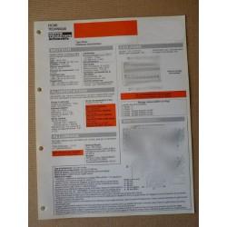 Fiche technique Ford Mondeo 2.5 V6 (BFPSEA15B01, 15C01, mk1 facelift) 170ch SEA, 12-13cv, 4-5 portes