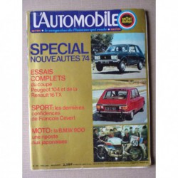 L'Automobile n°330, Renault 16 TX, Peugeot 104, Rolls Royce Frua