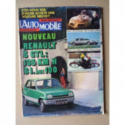 L'Automobile n°357, Ford Taunus 1600S, Cadillac Seville, Chevrolet Super Spyder II, Jean-Yves Montagu, Harley SS 175