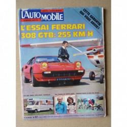 L'Automobile n°359, Ferrari 308 GTB, BMW 320i E21, camping cars 1976