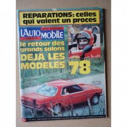 L'Automobile n°370, Lancia Gamma, Range Rover 3.5L V8, Porsche 928, Simca Rancho, Morini 125