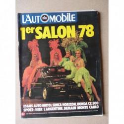 L'Automobile n°380, Datsun 200L, Simca Horizon, Volkswagen LT28 Villard, Panther 6, Laverda 1000, Honda CX 500
