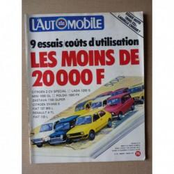 L'Automobile n°391, Citroën 2cv Spécial, Fiat 133L, 127 903 L, Mini 1000 GL, Zastava 1100 Super, Lada 1200S, Polski 1300 PX