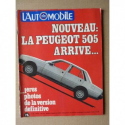 L'Automobile n°394, Audi 100 Diesel, Panther Lima, Volkswagen Passat GLD, Peugeot 305 GRD, Mercedes G, BMW R65