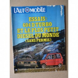 L'Automobile n°403, Peugeot 604 D Turbo, Dome P2, Herzog Conte, Fiat X1/9, Caddy Guy Duport, Auto Union 3L