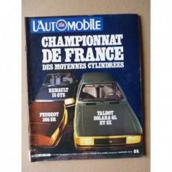 L'Automobile n°408, Fiat Panda, Talbot Solara SX GL, Renault 18 GTS, Peugeot 305 SR, Porsche Kremer K3