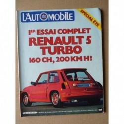 L'Automobile n°409, Renault 5 Turbo, Triumph TR7 cabriolet, Citroën CX Pallas Automatic