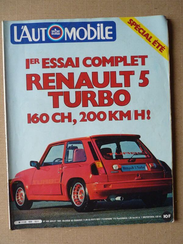 Automotive No409renault 5 Turbotriumph Tr7 Cabrioletcitroën Cx