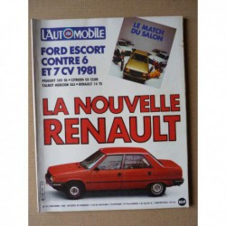 L'Automobile n°413, Renault 18 Turbo, Ford Escort GT, Citroën GSA Club, Peugeot 305 GL, Clay Regazzoni
