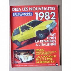 L'Automobile n°414, Mazda 323 FF, Jetta GLI, Matra Murena, 155 MPG, Peugeot 402 Andreau, Bimota KB1 A