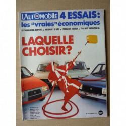 L'Automobile n°415, BMW M1 Groupe 4, Vector W2, Garrett, Visa Super E, Peugeot 104 GR, AMC Renault 18i
