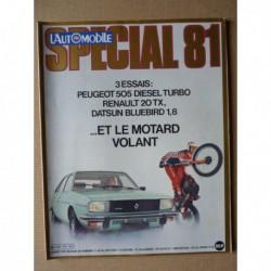 L'Automobile n°416, Peugeot 505 SRD Turbo, Datsun Bluebird 910, Renault 20 TX, Volvo 343 Turbo Rallycross, Jean Ragnotti