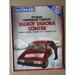 L'Automobile n°417, Audi Quattro, Ernst Kanzler, Talbot Tagora GLS, Citroën CX Athena, Peugeot 505 STI, Renault 20 TX