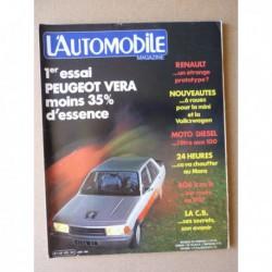 L'Automobile n°420, Ferrari Mondial, Fiat Ritmo S85, Peugeot 305 Vera, Auto-Union, Motobécane Enduro 80