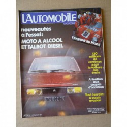 L'Automobile n°421, Talbot Tagora, Lada Niva, Mercedes 300GD, Toyota Land Cruiser J40, Méhari 4x4, Jeep Golden Eagle