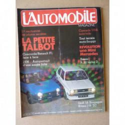 L'Automobile n°423, Volkswagen Golf GTI 16S, Fiat Ritmo 105TC, Renault 30 Diesel Turbo, Renault F1 Concorde, Dingo Buggy