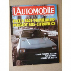 L'Automobile n°429, Triumph Acclaim, Renault 5 Turbo, Fiat 127 D, Peugeot 505 GRD, Citroën CX Reflex, De Lorean DMC-12