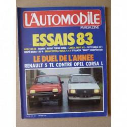 L'Automobile n°437, Audi 100 CD, Lada Niva 4x4, Renault Fuego TD, Opel Corsa vs Renault 5 TL, Aston Martin DB4