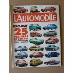 L'Automobile n°446, Lamborghini Countach LP500S, Peugeot 504 Dangel, Citroën Visa 4x4, Cunningham