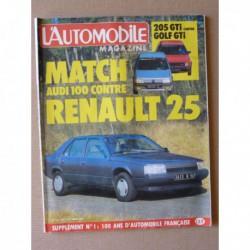 L'Automobile n°453, Porsche 928S, Jeep CJ-7, Renault 25 GTS, Audi 100 CC, Peugeot 205 GTi 105ch, Volkswagen Golf GTI 112ch
