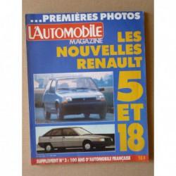 L'Automobile n°455, BMW Alpina B6, Maserati Biturbo, Citroën Visa 17 RD, Honda Civic CRX, Peugeot 505 Turbo, Porsche 2000