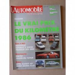 L'Automobile n°474, Opel Kadett GL, MG Montego Turbo, Ford Sierra XR 4x4, Aro 244D, Cougar C12, Peugeot 205 GRD