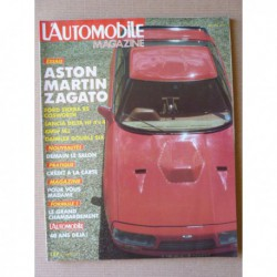 L'Automobile n°483, Aston Martin Vantage, Honda Accord EXI, Daimler Double Six, Ford Sierra RS, BMW M3, Nissan King Cab