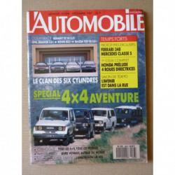 L'Automobile n°498, Honda Prelude 4ws, Lamborghini LM002, Mazda 929 GLX, Renault 25 V6, Rover 825i Sterling, Opel Senator