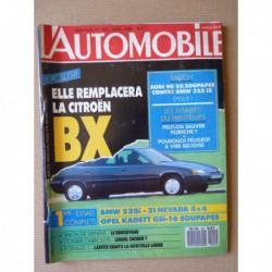 L'Automobile n°502, BMW 535i, Opel Kadett GDI, Aro 10-4, Chevrolet Corvette C4, Audi 90 Quattro, BMW 325iX