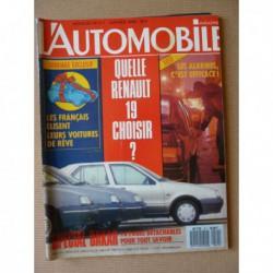 L'Automobile n°511, Peugeot 309 SR, Cadillac Seville STS, Toyota Celica Turbo, Peugeot 405 Sri, Renault 21 TXE, Fiat Croma D