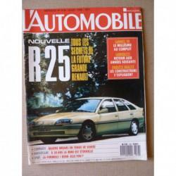 L'Automobile n°518, Porsche 928 GT, Jeep Wrangler Texan, Renault 21 Turbo Europa Cup, Lancia Thema et Volvo 740 Break