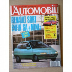L'Automobile n°521, Ferrari 348tb et Mondial T, Yugo Florida, Volvo 740 GLT, Mazda 323 GLX, Renault 19 GTX, Trabant 601