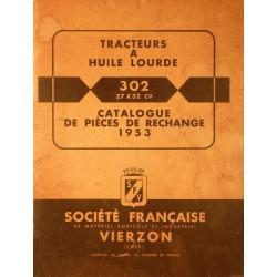 Vierzon 302, catalogue de pièces