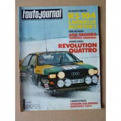 Auto-Journal n°03-81, Mercedes 230E, Citroën GSA, Peugeot 104Z, Renault 5