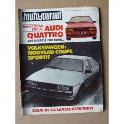 Auto-Journal n°04-81, Audi Quattro, Lancia Beta Trevi 2000ie, Yamaha 7XV 750