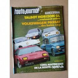 Auto-Journal n°07-81, Volkswagen Passat, Talbot Horizon GL, Alpine A310, BMW M1, Porsche 924 GT, Renault 5 Turbo