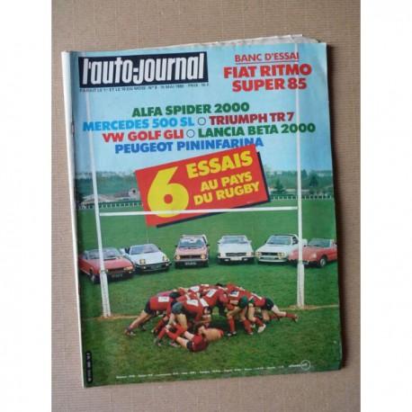Auto-Journal n°09-81, Fiat Ritmo 85 Super, Alfa Romeo Spider 2000, Mercedes 500SL R107, Triumph TR7, Volkswagen Golf GLI