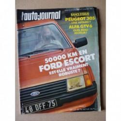 Auto-Journal n°11-81, Alfa Romeo Alfetta GTV6 2.5, Peugeot 305, Ford Escort 1.3 GL, Sbarro GT40