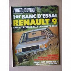 Auto-Journal n°16-81, Renault 9 GTL, Fiat Ritmo 105TC, Bugatti