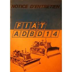 Fiat AD14 et BD 14, notice d'entretien