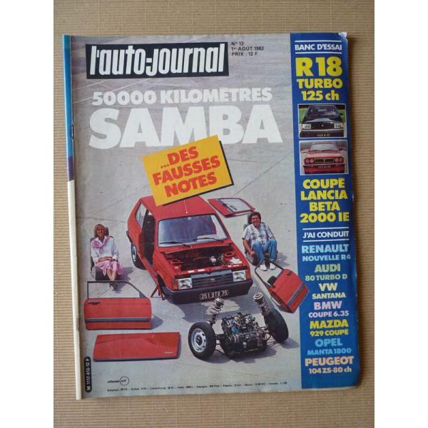 auto journal n 13 82 talbot samba gl renault 18 turbo lancia beta coup toyota hilux. Black Bedroom Furniture Sets. Home Design Ideas