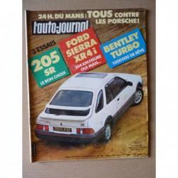 Auto-Journal n°10-83, Bentley Mulsanne Turbo, Ford Sierra XR4i, Peugeot 205 SR