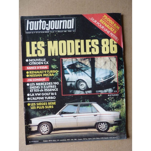 Auto-Journal N°12-85, Renault 9 Turbo, Nissan Micra GL