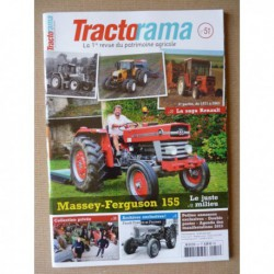 Tractorama n°51, Massey-Ferguson 155, Renault 1971-2003, Cérès M1J, Fendt Favorit 3 Farmer 3S, Éric Jamar