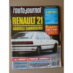 Auto-Journal n°21-88, Peugeot 309 GTI, Renault 21 TXE, Morgan Plus 8, Panther Kallista, PGO Cobra 427, De La Chapelle 55