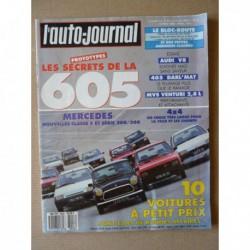 Auto-Journal n°09-89, MVS Venturi 2.8, Audi V8, Peugeot 405 Darl'Mat, Citroën AX 10E, Innocenti 500LS, Yugo 45 America