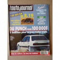Auto-Journal n°14-89, Seat Ibiza SX1, Citroën BX GTI 4x4, Ford Sierra 2.0i, Porsche 928 GT, Jeep Wrangler, Renault 19 GTS