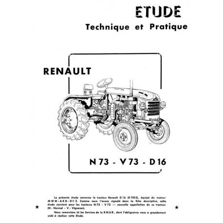 Revue Technique Renault N73, V73, D16 types R7053