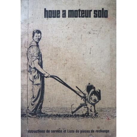 Notice et catalogue de pièces houe à moteur Solo