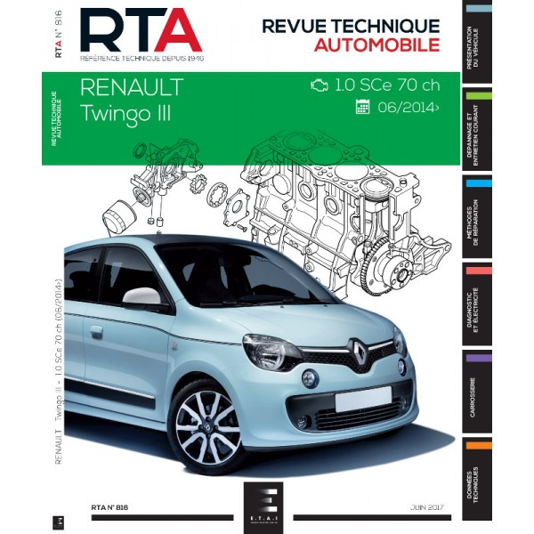 rta renault twingo iii 1 0 sce 70ch. Black Bedroom Furniture Sets. Home Design Ideas
